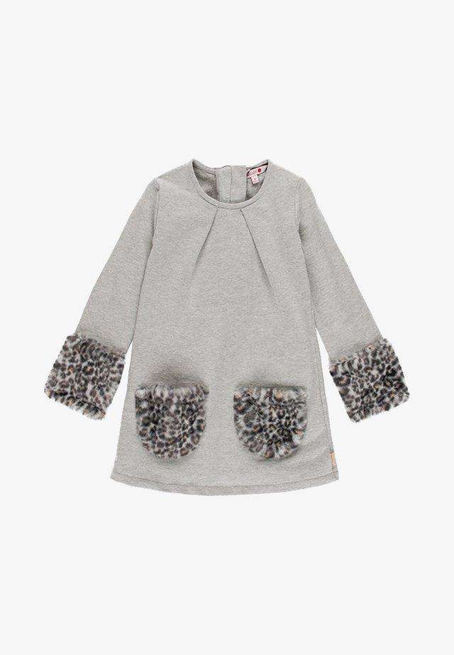 Korte jurk - melange grey
