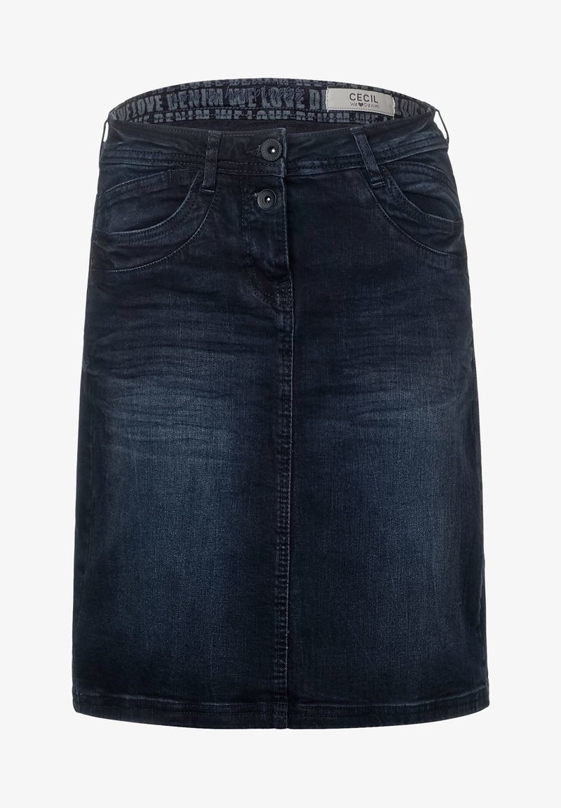 Cecil - Denim skirt - blau