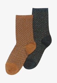 MP Denmark - NORA 2 PACK - Ponožky - dark honey/dark aqua green - 2
