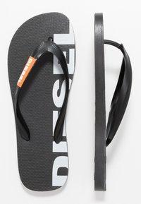 Diesel - SA-BRIIAN - Pool shoes - black/orange popsicle - 1