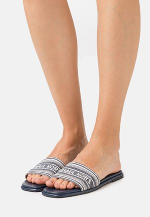 SADLER SLIDE - Mules - navy