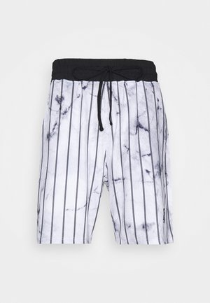 MARBLE RELAXED - Shorts - white/grey