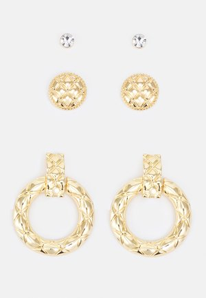 ONALEMA 3 PACK - Earrings - clear/gold-coloured
