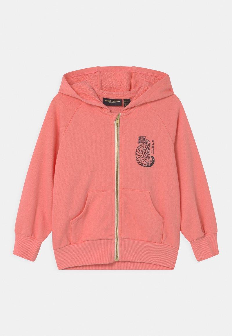 Mini Rodini - TIGER ZIP HOODIE UNISEX - Sweatjacke - pink