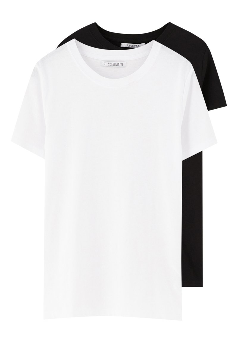 PULL&BEAR - 2 PACK - Basic T-shirt - white