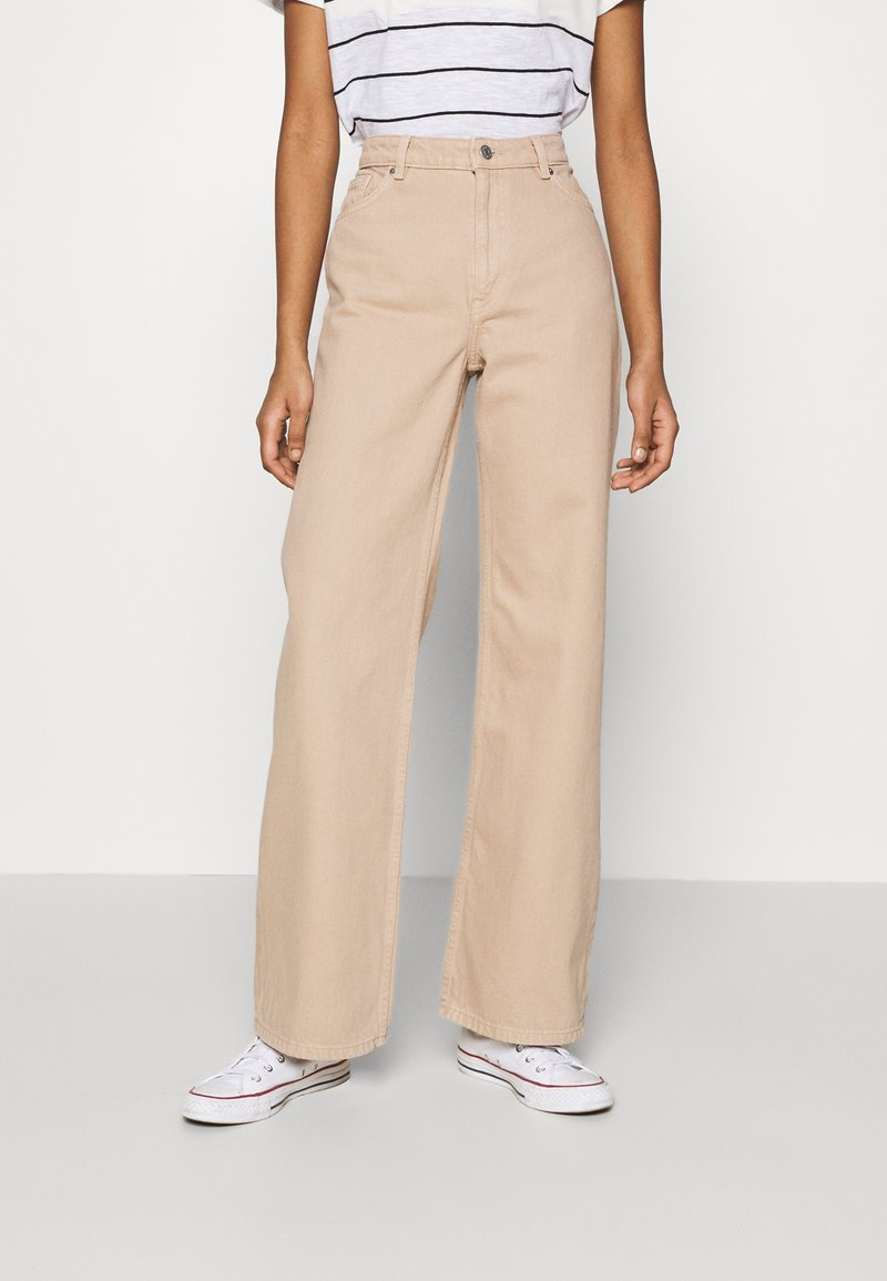 Monki - YOKO - Jeans straight leg - beige medium dusty