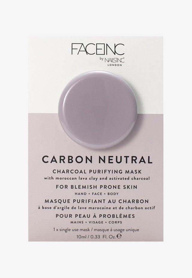 FACE INC CARBON NEUTRAL CHARCOAL PURIFYING POD MASK 10ML - Ansigtsmaske - 9322 neutral