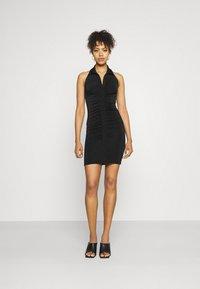 Gina Tricot - DOLLY HALTERNECK DRESS - Cocktail dress / Party dress - black - 1