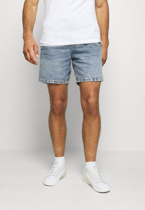 TIE WAIST - Jeans Short / cowboy shorts - light blue