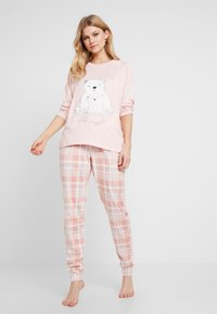 Dorothy Perkins - CHECK POLAR BEAR SET - Pyjamas - pink - 1