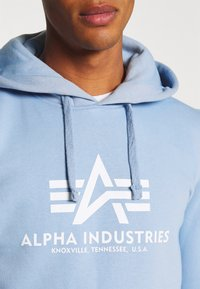 Alpha Industries - BASIC HOODY - Sweatshirt - light blue - 5