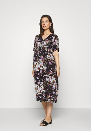 PCMBECCA MIDI DRESS - Vestido informal - black/purple