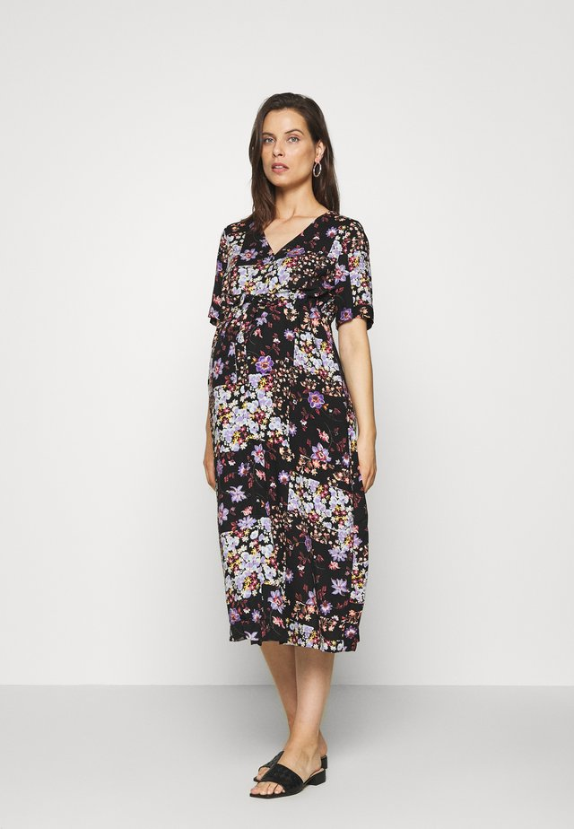 PCMBECCA MIDI DRESS - Vapaa-ajan mekko - black/purple