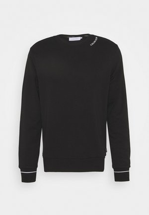 NECKLINE LOGO - Sweatshirt - black