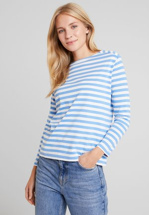 D1. STRIPED TOP - Long sleeved top - pacific blue