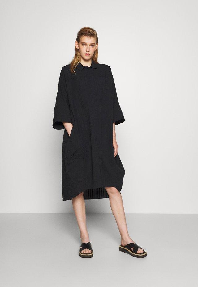 FUNNEL SHIRTDRESS - Day dress - black