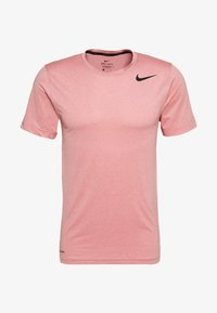Nike Performance - DRY - T-shirt basique - university red/washed coral/heather/black - 0