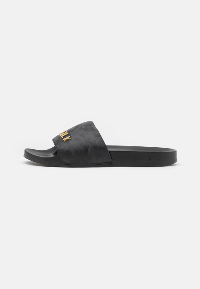 ALPHA SLIDES - Mules - black