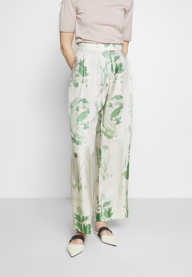 DILLENIA - Spodnie materiałowe - green