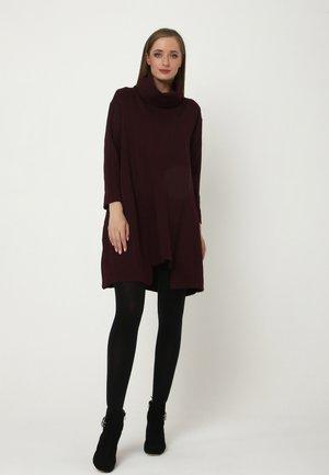 Jersey dress - pflaume