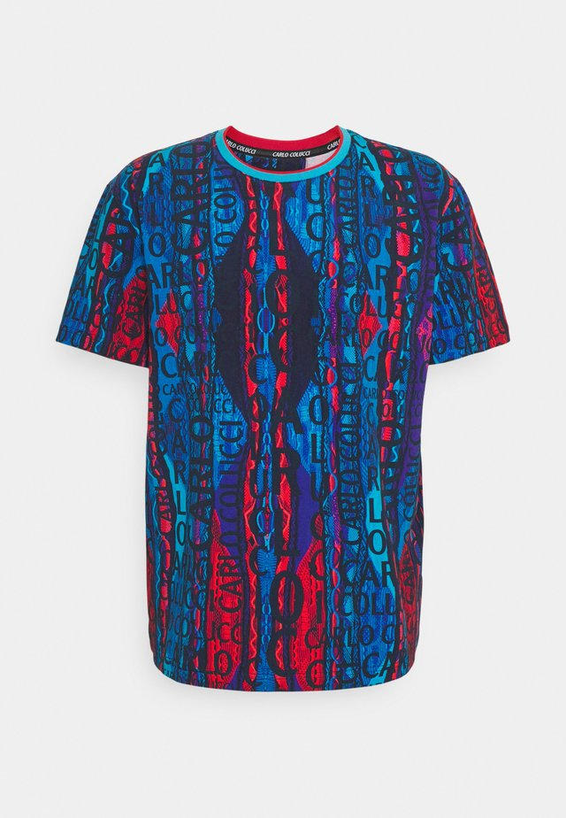 T-shirt con stampa - navy/multi