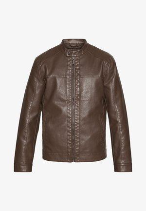 ONSMIKE RACER JACKET - Faux leather jacket - bison