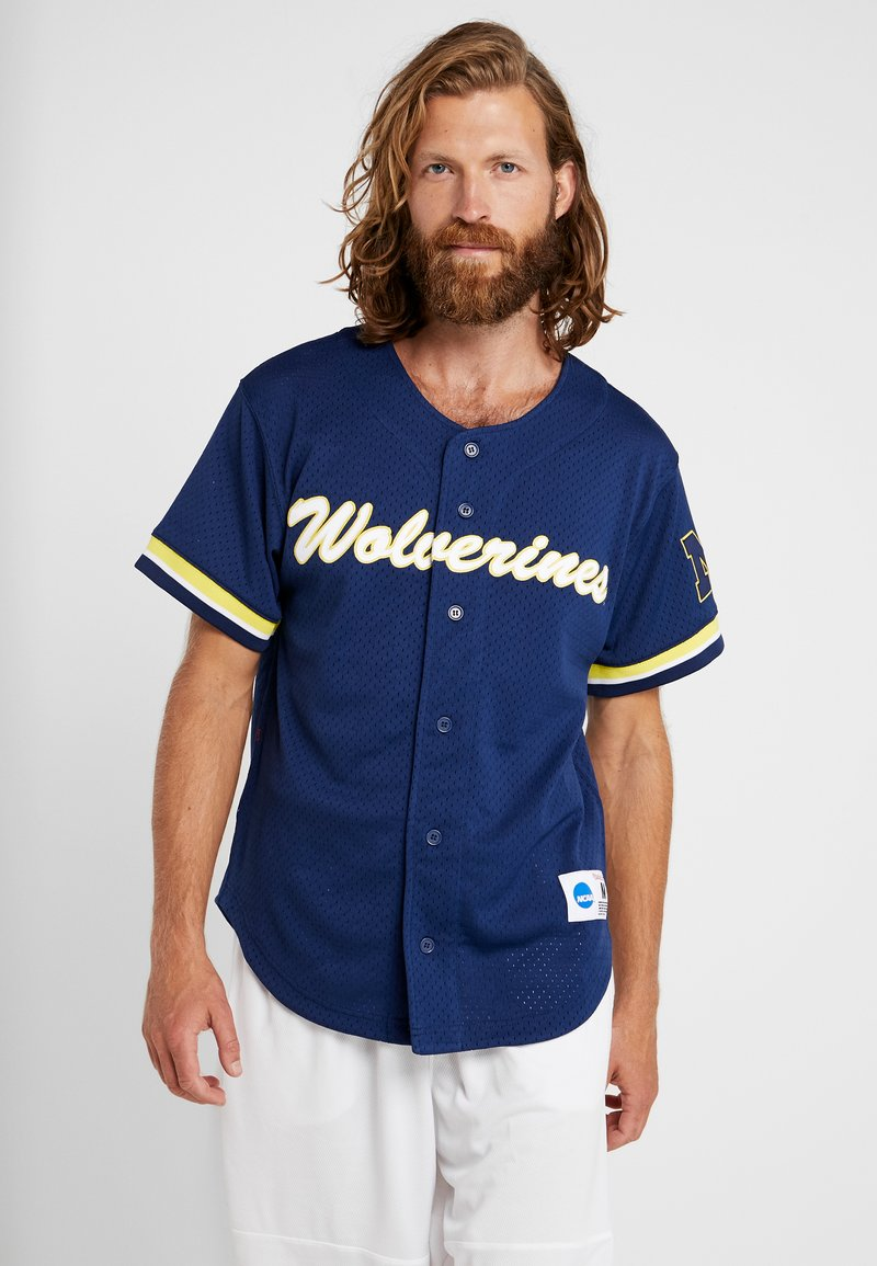 Mitchell & Ness - NCAA MICHIGAN BASEBALL - T-shirt imprimé - navy