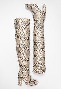 Call it Spring - SLOUCH - Boots med høye hæler - black/white - 3
