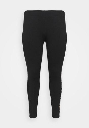 ONPFENT LIFE LEG CURVY - Leggings - black/neon orange rainbow