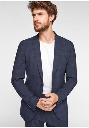 SLIM: MIT HYPERSTRETCH - Suit jacket - dark blue glencheck