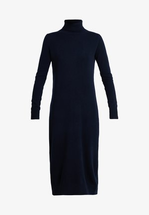 TURTLENECK  DRESS - Maxi šaty - dark navy