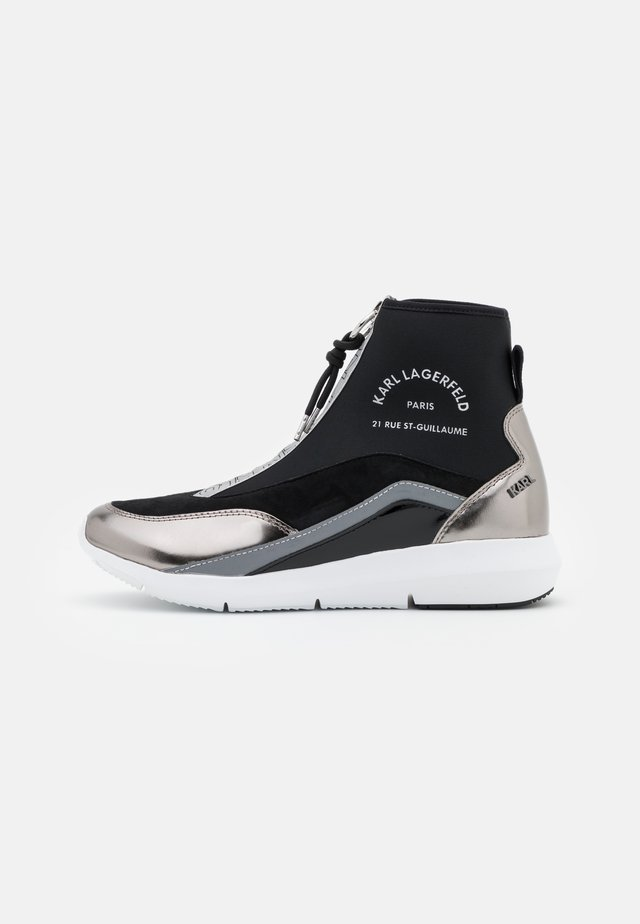 VITESSE SOCK ZIP - High-top trainers - black/silver