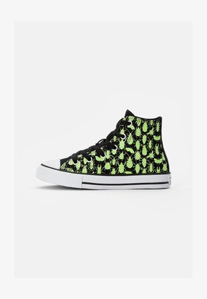 CHUCK TAYLOR ALL STAR GLOW BUG - Korkeavartiset tennarit - black/ceramic green/white