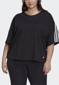 adidas Performance - AGRAVIC PARLEY PRIMEBLUE SHIRT TRAIL RUNNING - Print T-shirt - black/white - 2