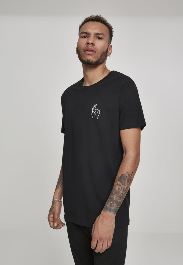 EASY TEE - T-shirt print - black