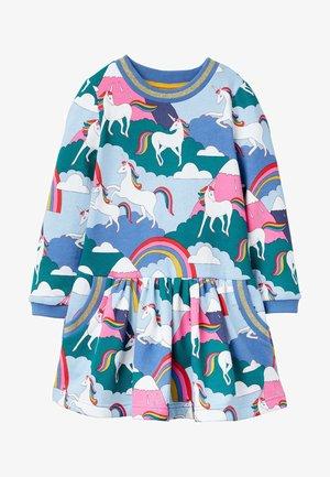 Day dress - bunt, berge mit einhörnern
