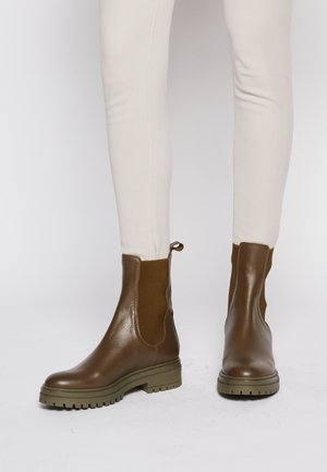 Platform ankle boots - verde
