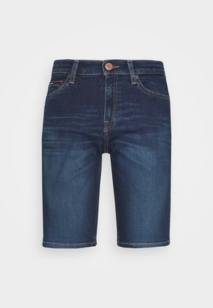 MID RISE BERMUDA - Denim shorts - dark blue
