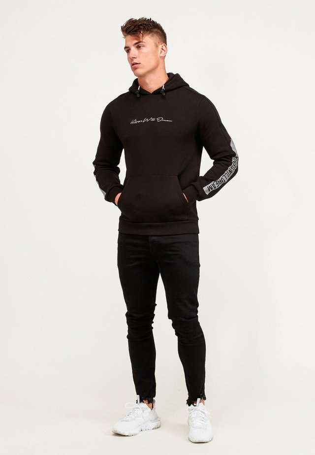 GRINELL - Jersey con capucha - black reflective
