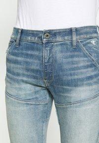 G-Star - 5620 3D ZIP KNEE SKINNY - Jeans Skinny Fit - vintage cool aqua destroyed - 3