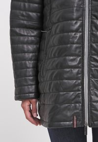 Oakwood - DUVET - LEATHER JACKET - Leather jacket - black - 6