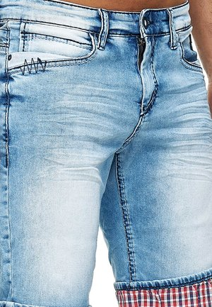 DUNSTER - Denim shorts - blau