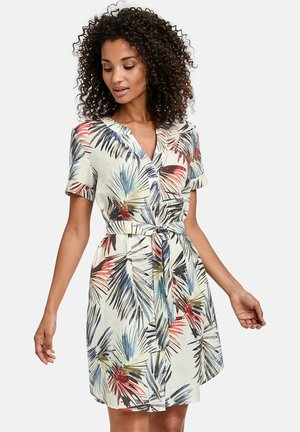 Shirt dress - offwhite gemustert