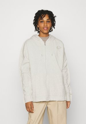 HOODIE EARTH DAY - Sudadera con cremallera - oatmeal heather/light bone/white