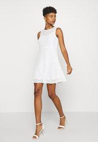 Vero Moda - VMALLIE SHORT DRESS - Day dress - snow white - 1