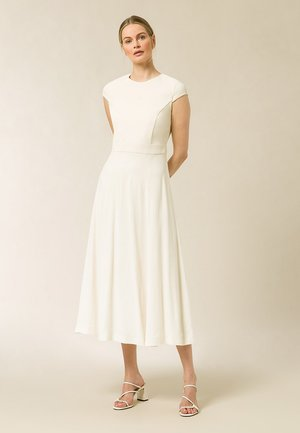 CAP SLEEVE DRESS MIDI - Day dress - vanilla