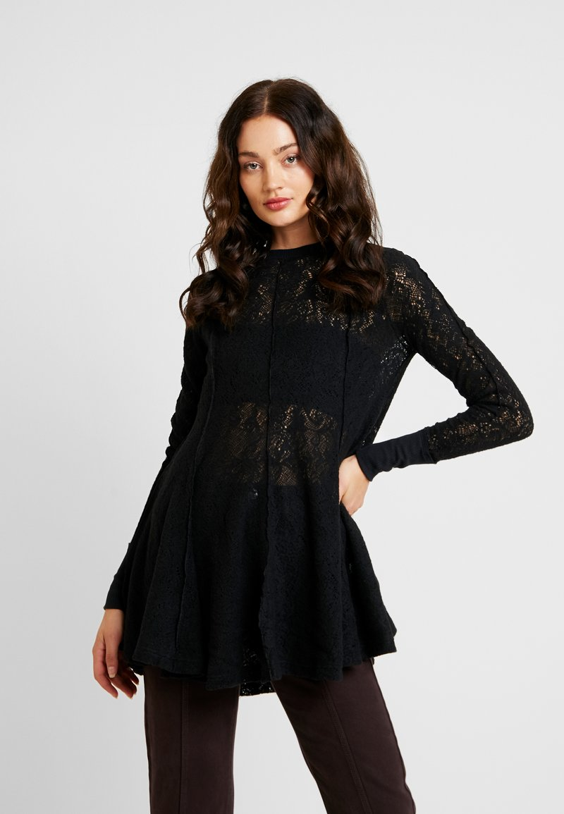 Free People - COFFEE IN THE MORNING - Long sleeved top - black