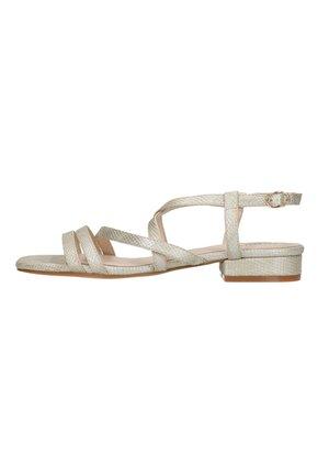 MIT SNAKEPRINT - Sandals - gold