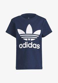 adidas Originals - TREFOIL T-SHIRT - Camiseta estampada - blue - 0