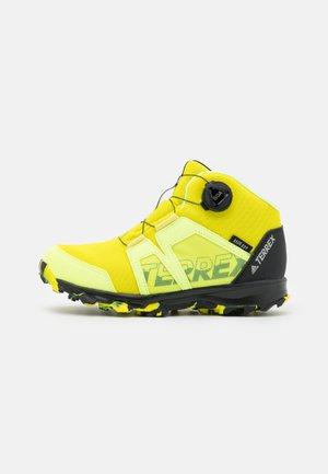 TERREX BOA MID R.RDY UNISEX - Hiking shoes - acid yellow/core black/hi-res yellow